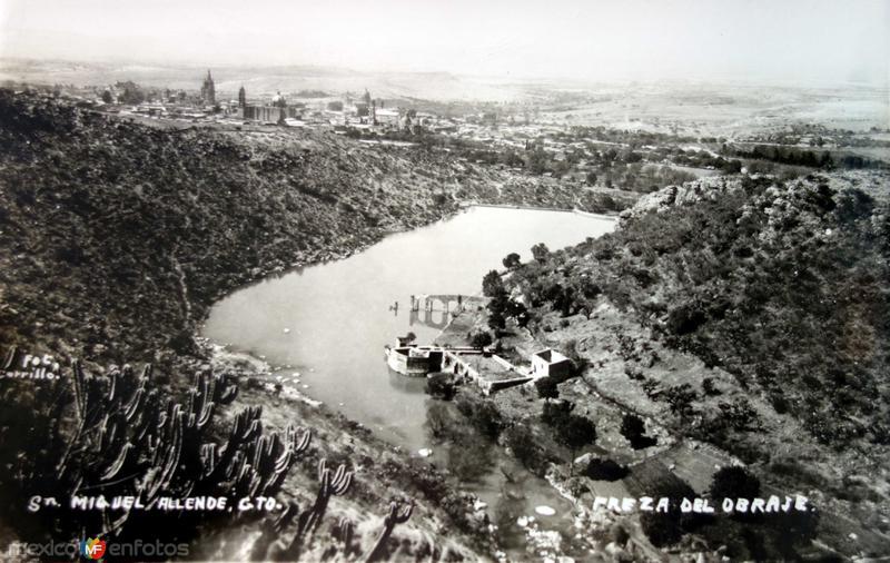 La presa del Obraje.