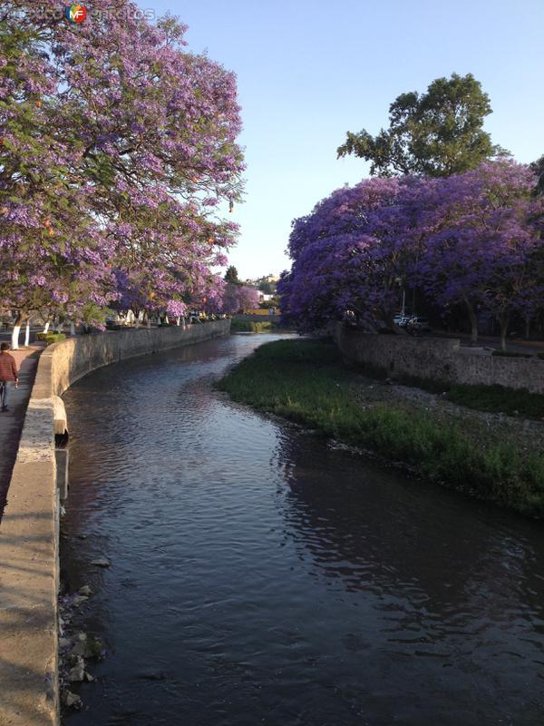 Río Zahuapan a su paso por la capital de Tlaxcala. Abril/2018