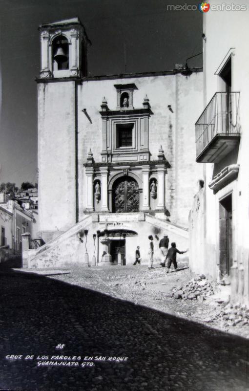 Cruz de los faroles de San Roque.