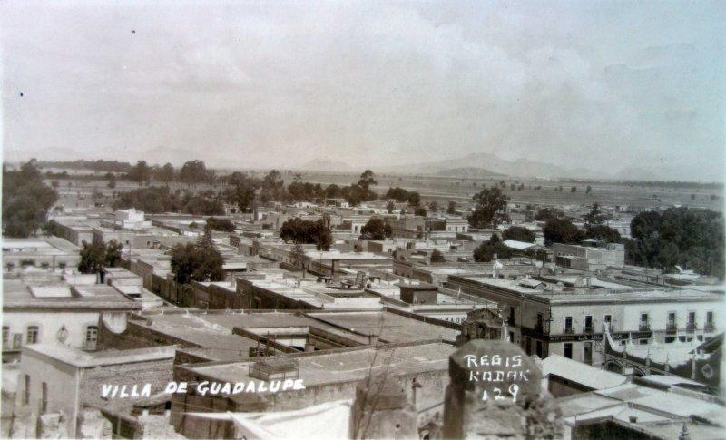 Panorama desde La Villa de Guadalupe ( Circulada el 8 de Noviembre de 1931 ).