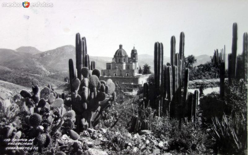 Templo de La Valenciana ( Circulada el 6 de Febrero de 1952 ).
