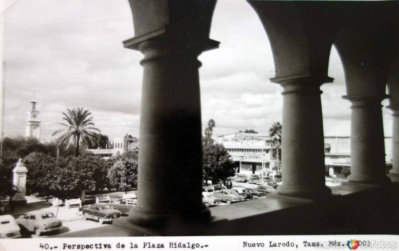 Perspectiva de la plaza Hidalgo.