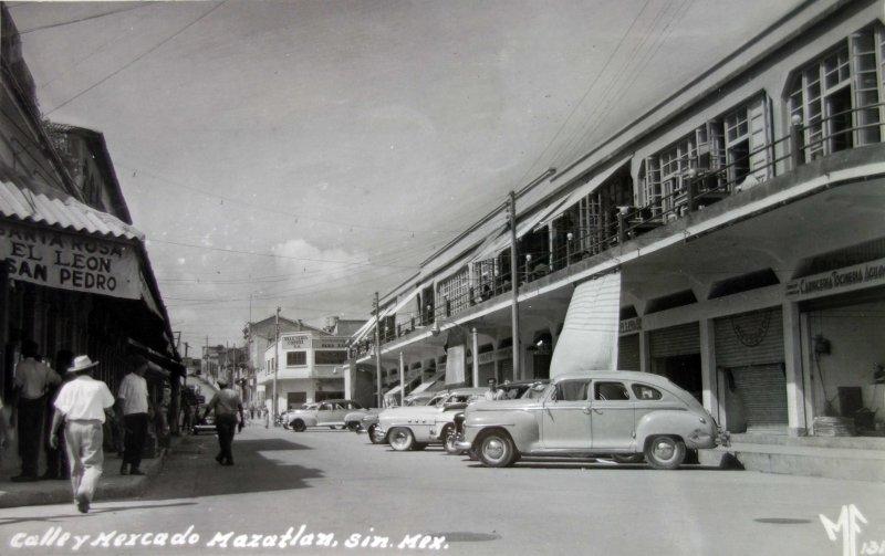 Calle y mercado.