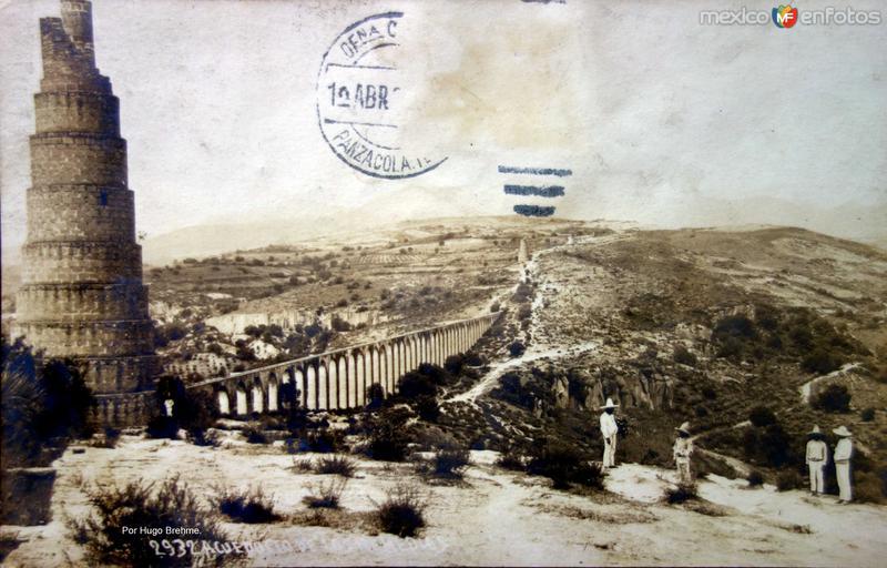 El Acueducto de Los Remedios Por el fotografo Hugo Brehme Circulada el 1 de Abril de 1929 ).