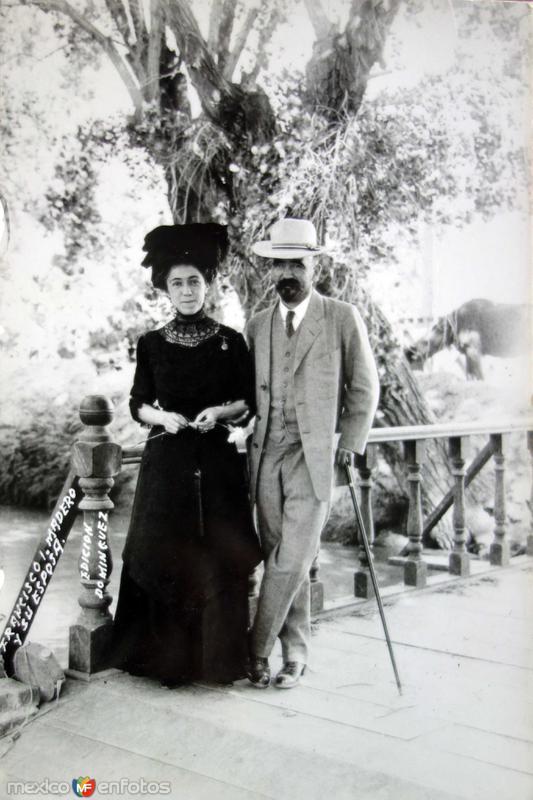 Fransisco I Madero y esposa Ciudad de México.