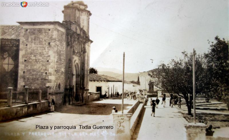 Plaza y parroquia Tixtla Guerrero