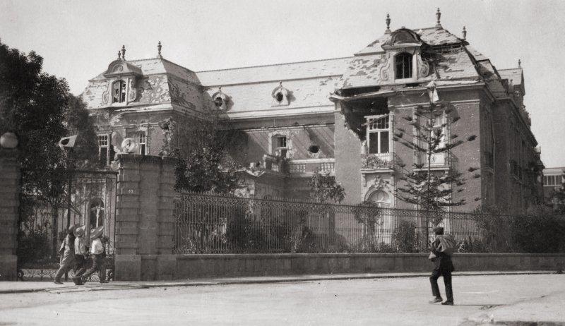 Decena Trágica: Casa Scherer, en Paseo de la Reforma frente a la Glorieta Colón (1913)