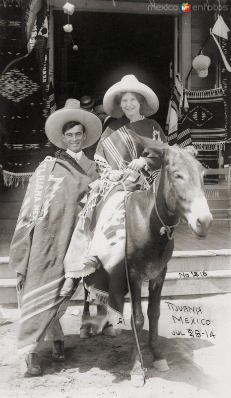 Turista en burro (1914)