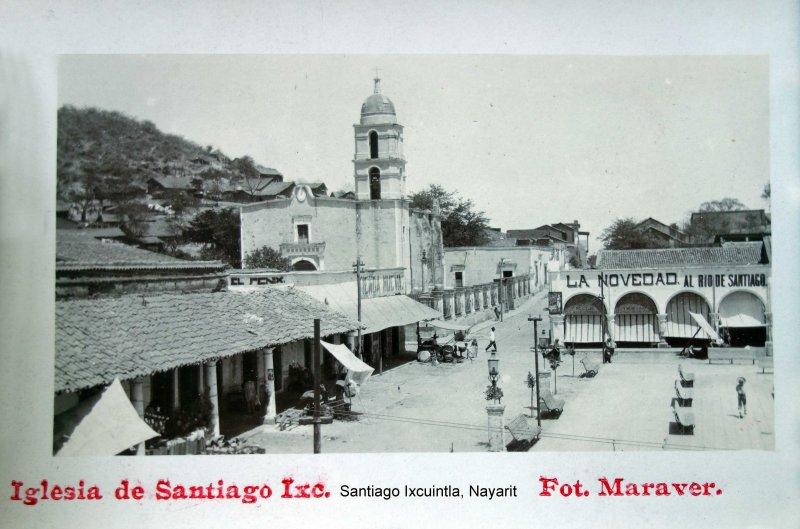 La Iglesia de Santiago Ixcuintla, Nayarit.