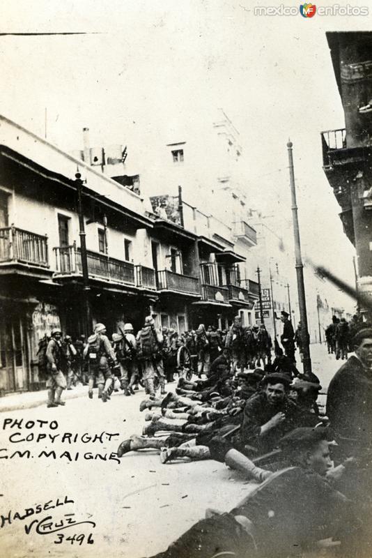 Escena surante la intervención estadounidense de 1914