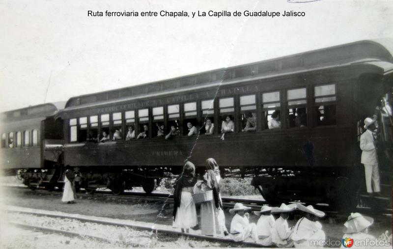 Ruta ferroviaria entre Chapala, y La Capilla de Guadalupe Jalisco.