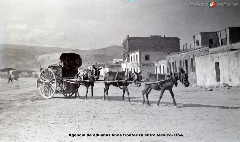 Agencia de aduanas linea fronteriza entre Mexico- USA.