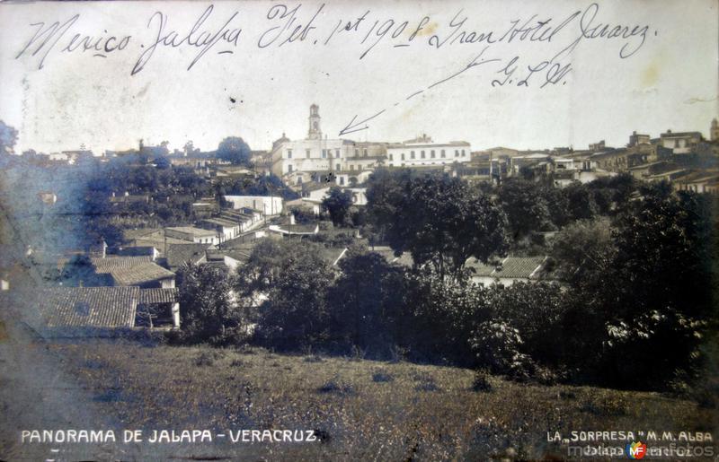 Panorama ( Circulada el 1 de Febrero de 1908 ).