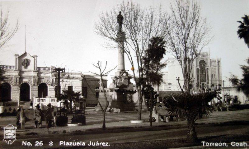 Plazuela Juarez ( Enviada el 4 de Julio de 1933 ).