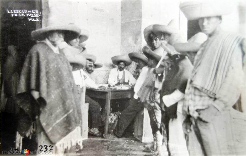 Tipos mexicanos elecciones en la nada.