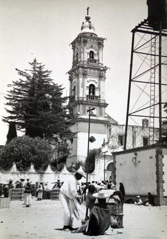 Templo del Carmen, en la ciudad mexiquense de Toluca de Lerdo.1938.
