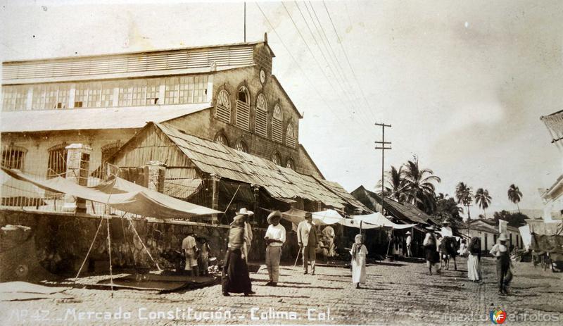 Mercado Constitucion Escena callejera.