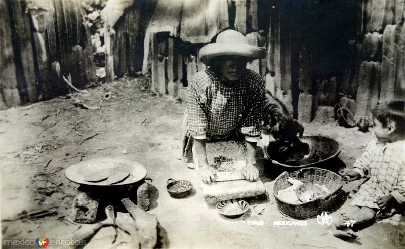 Tipos mexicanos una tortillera.
