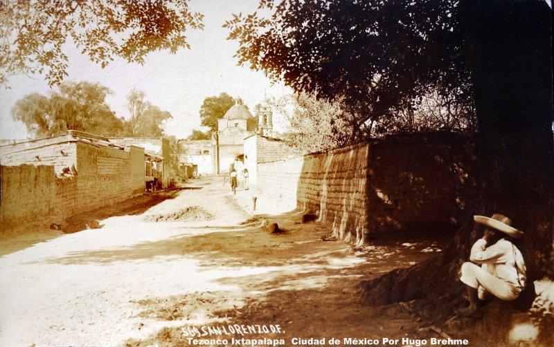 San Lorenzo Tezonco Ixtapalapa Ciudad de México Por Hugo Brehme.