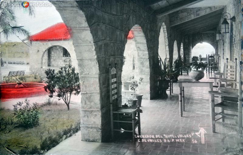 Corredor del Hotel Valles ( Circulada el 21 de Septiembre de 1940 ).