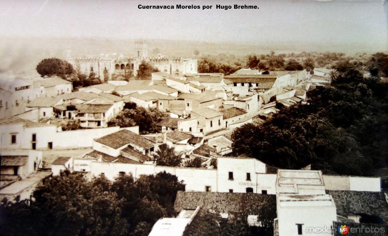 Panorama de Cuernavaca Morelos por el Fotógrafo Hugo Brehme.