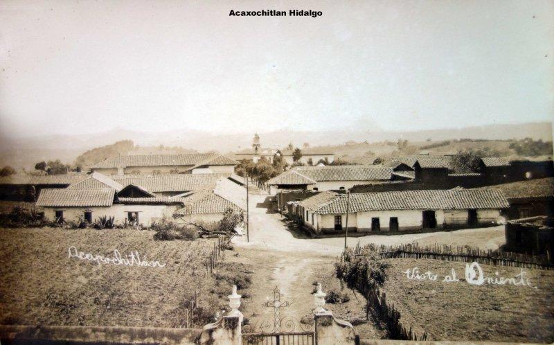Panorama de Acaxochitlan Hidalgo.