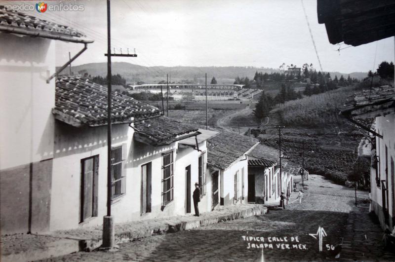 Tipica calle de Jalapa Veracruz.