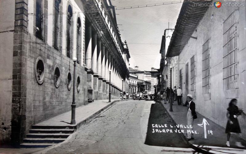 Calle L Valle Jalapa Veracruz.