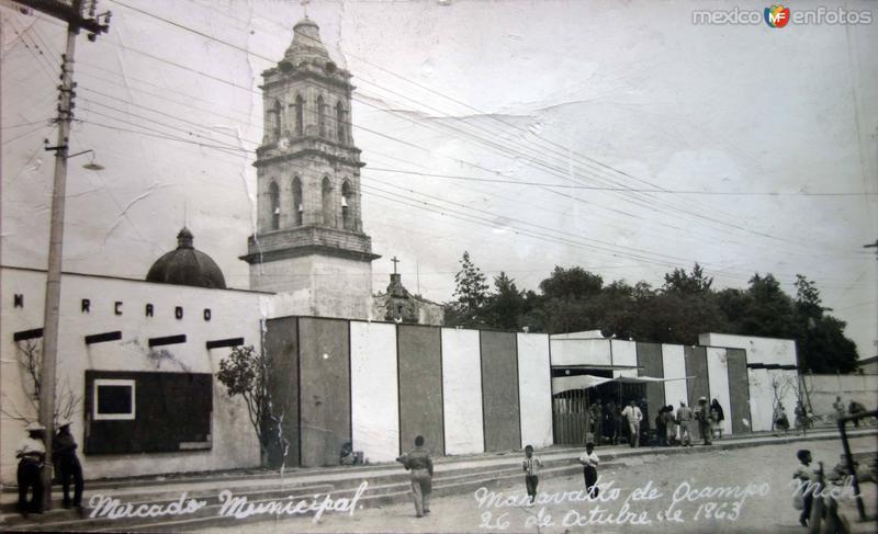 Mercado Municipal. ( Fechada el 26 de Octubre de 1963 ).