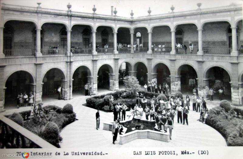 Interior de La Universidad.
