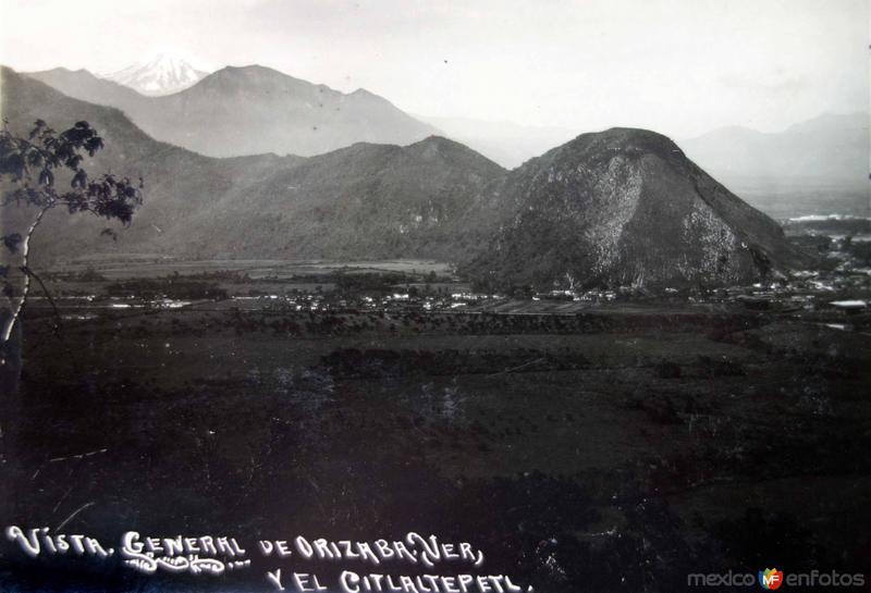 Vista general y volcan Citlaltepetl.