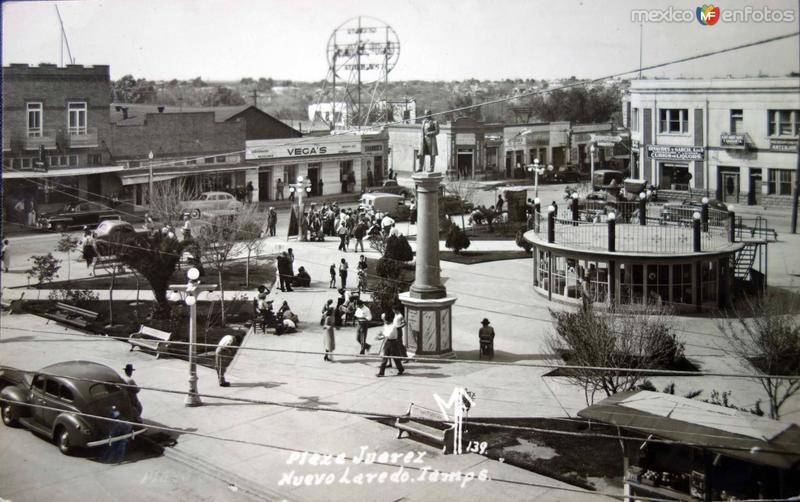 La Plaza Juarez ( Circulada el 18 de Junio de 1948 ).