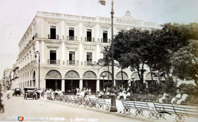 Hotel Diligencias y Zocalo. ( Circulada el 15 de Noviembre de 1916 ).