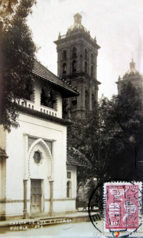 Caseta de Luz y Fuerza ( Circulada el 8 de Julio de 1921 ).