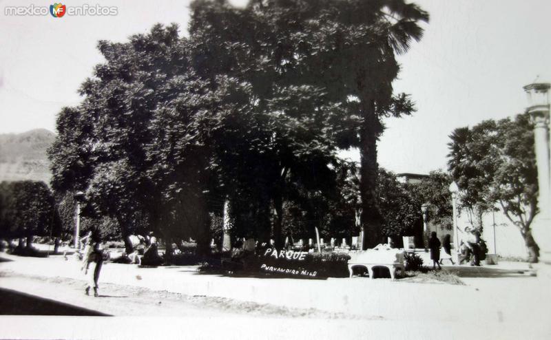 Parque. ( Circulada el 1 de Enero de 1957 ).