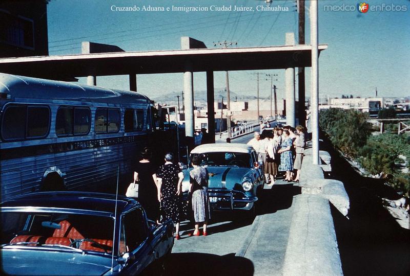Cruzando Aduana e Inmigracion Ciudad Juárez, Chihuahua