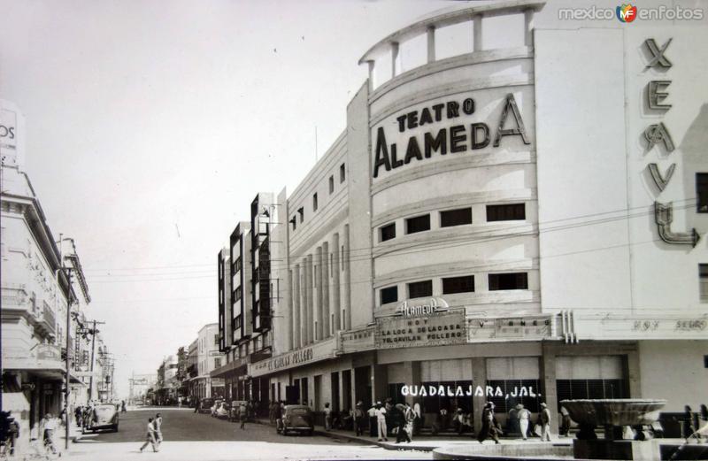 Teatro Alameda. ( Circulada el 4 de Enero de 1947 ).