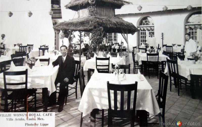 Cafe Royal Willie Wong ( Circulada el 3 de Agosto de 1942 ).