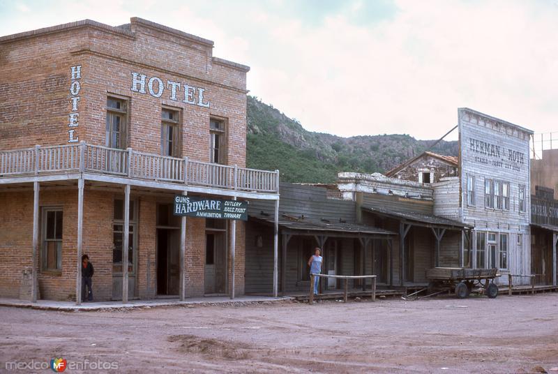 Set de filmación de películas del viejo oeste (1976)
