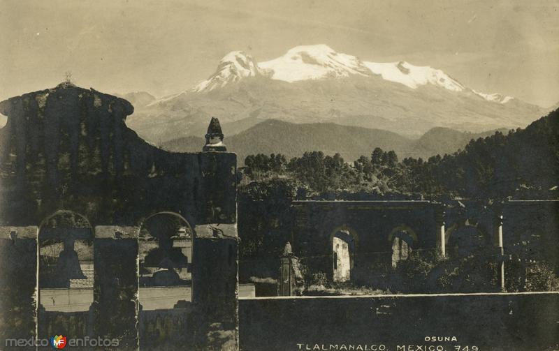 Vista al volcán Iztaccíhuatl