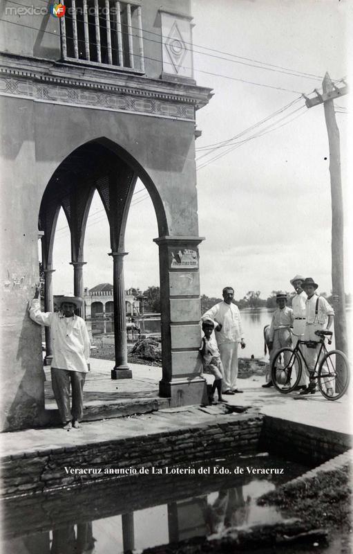 Lugar desconocido Anuncio de La Loteria de Veracruz.