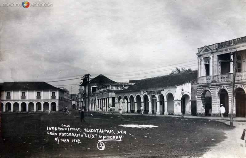 Calle Independencia. ( Fechada el 4 de Marzo de 1918 ).