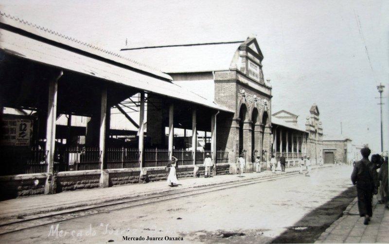 Mercado Juarez Oaxaca. ( Circulada el 5 de Marzo de 1926 ).