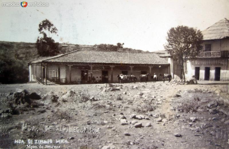 Hacienda de Zimipeo en el Mpio. de Jimenez Michoacan ( Circulada el 12 de Diciembre de 1912 )