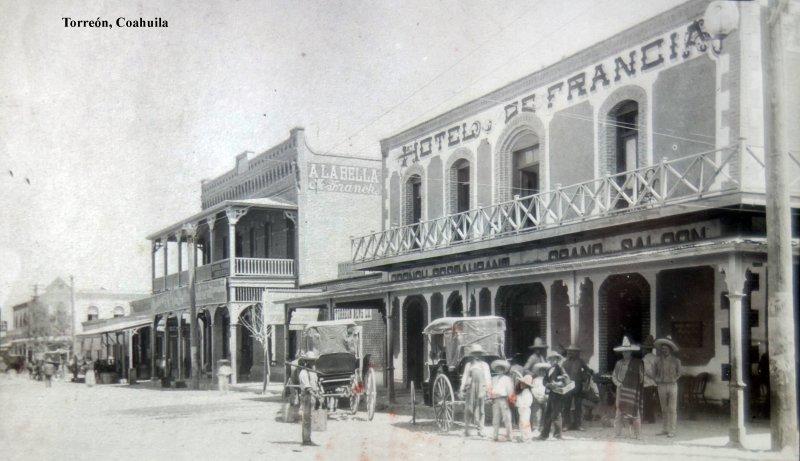 Hotel de Francia Torreón, Coahuila por el fotografo Windfield Scott.