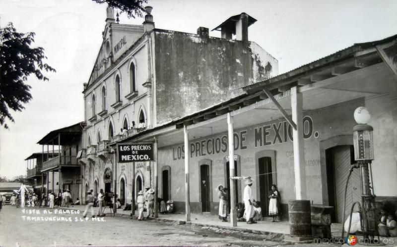 Vista al Palacio. ( Circulada el 19 de Marzo de 1952 )