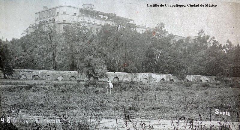 El Castillo de Chapultepec por Fotógrafo Winfield Scott.