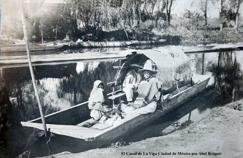 El Canal de La Viga  por el Fotógrafo Abel Briquet.