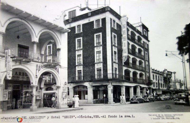 Papeleria El Arbolito y Hotel Sesin.