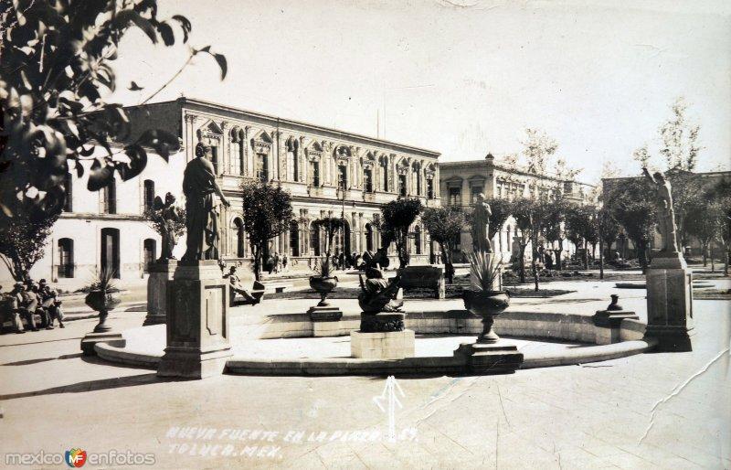 Nueva fuente en La Plaza.